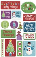 Creative Imaginations - Epoxy Stickers - Signature Collection - Holiday Cheer