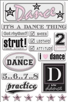 Creative Imaginations - Art Warehouse by Danelle Johnson - Epoxy stickers - Dance