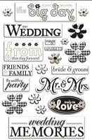Creative Imaginations - Art Warehouse by Danelle Johnson - Epoxy stickers - Wedding Pearl