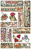 Creative Imaginations - by Marah Johnson - Epoxy Stickers - Love Stuck