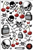 Creative Imaginations - Epoxy Stickers - Signature Collection - Skull and Xbones