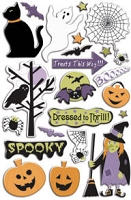 Creative Imaginations - Epoxy Stickers - Signature Collection - Creepy