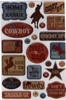 Creative Imaginations - Epoxy Stickers - Signature Collection - Western