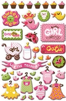 Creative Imaginations - Epoxy Stickers - By Helen Dardik - Cutie Pie Girl