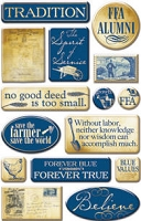 Creative Imaginations - Epoxy Stickers - National FFA Organization -  Nostalgic FFA
