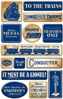 Creative Imaginations - Epoxy Stickers - Lionel - Vintage Lionel