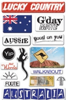 Creative Imaginations - Art Warehouse by Danelle Johnson - Epoxy stickers - Australia