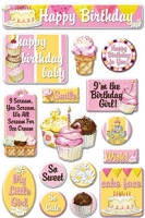 Creative Imaginations - Epoxy Stickers -by Barb Tourtillotte - So Sweet (Glitter)