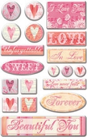 Creative Imaginations - by Christine Adolph - Epoxy Stickers - Felicity Phrases Foil
