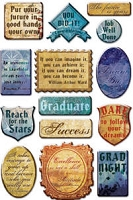 Creative Imaginations - by Marah Johnson - Epoxy Stickers - Cap & Gown