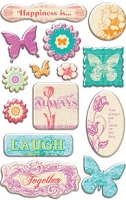 Creative Imaginations - Narratives - by Karen Russel - Epoxy Stickers - Bloom