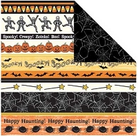 Creative Imaginations - 12X12 Paper  - Trick or Treat Collection - by Samantha Walker - Spooky Borders