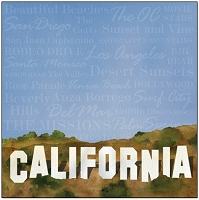 Creative Imaginations - 12X12 Single Sided Paper -by Barb Tourtillotte - California Sign