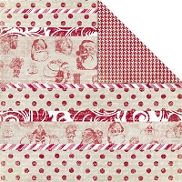 Creative Imaginations - Art Warehouse by Danelle Johnson  - 12X12 Double Sided Paper - Peppermint