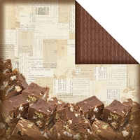 Creative Imaginations - Christmas in the Kitchen Collection by Samantha Walker - 12X12 Double Sided Paper - Chocolate Fudge