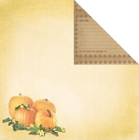 Creative Imaginations - Family Garden Collection - 12x12 Double Sided Paper - Pumpkin