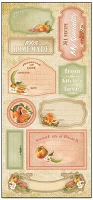 Creative Imaginations - Family Garden Collection - 5x12 Sticker Sheet