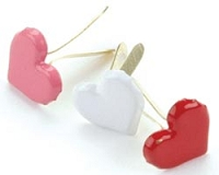 Creative Impressions-Brads-pink/white/red hearts 50/box