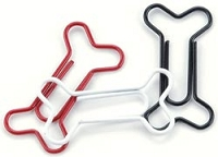 Creative Impressions - Painted Metal Dog Bone Paper Clips (15/pkg) - Red, White & Black