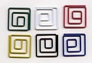 Creative Impressions - Painted Metal Square Paper Clips (25/pkg) - Primary