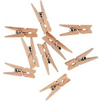Creative Impressions - Mini Clothespins (25/pkg) - Natural