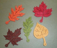 Creative Impressions Felt Die Cuts - Autumn Leaves
