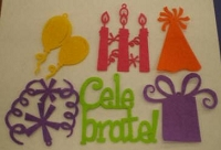 Creative Impressions Felt Die Cuts - Birthday
