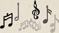 Creative Impressions Felt Die Cuts - Music Notes