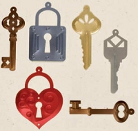 Creative Impressions Mylar Die Cuts - Keys and Locks