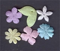 Creative Impressions Small Sheer Flowers - Pastel Assortment