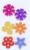 Creative Impressions Mylar Die Cuts - Small Bright Tansparent Blossoms