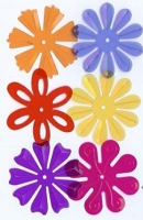 Creative Impressions Mylar Die Cuts - Large Bright Transparent Blossoms