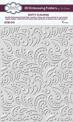 Creative Expressions - 3D Embossing Folder - Dotty Flourish (5.75