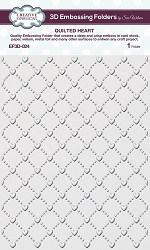 Creative Expressions - 3D Embossing Folder - Quilted Heart (5.75