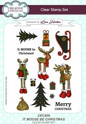 Creative Expressions - Clear Stamp - It Moose Be Christmas by Lisa Horton