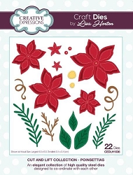 Creative Expressions - Die - Cut and Lift Collection by Lisa Horton - Poinsettias