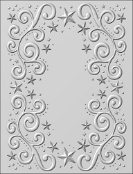 Sue Wilson Designs - 3D Embossing Folder - Twinkle Swirls (5.75