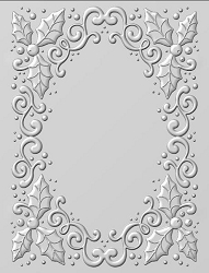 Sue Wilson Designs - 3D Embossing Folder - Holly Swirls (5.75