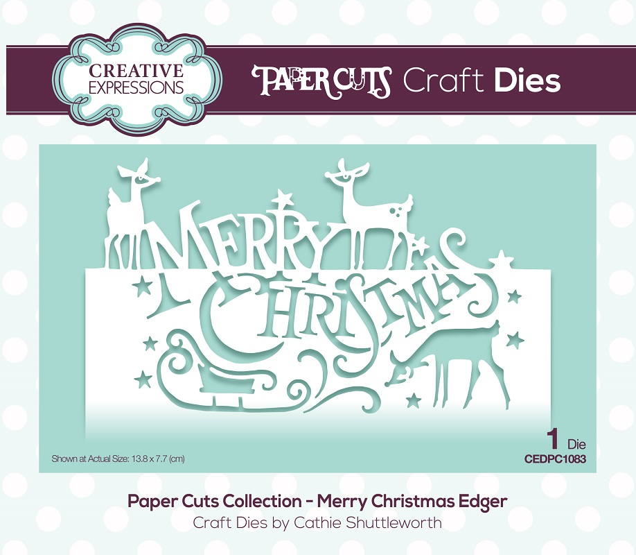 Creative Expressions Die Paper Cuts Collection Merry Christmas Edger