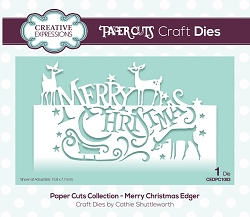 Creative Expressions - Die - Paper Cuts Collection Merry Christmas Edger