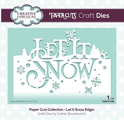 Creative Expressions - Die - Paper Cuts Collection Let It Snow Edger