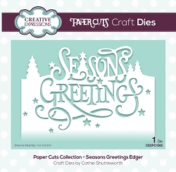 Creative Expressions - Die - Paper Cuts Collection Season's Greetings Edger