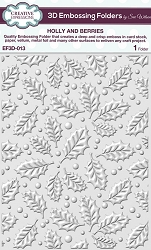 Creative Expressions - 3D Embossing Folder - Holly and Berries (5.75