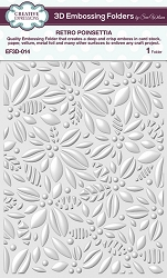 Creative Expressions - 3D Embossing Folder - Retro Poinsettia (5.75