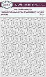 Creative Expressions - 3D Embossing Folder - Stylised Poinsettia (5.75