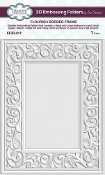 Creative Expressions - 3D Embossing Folder - Flourish Border Frame (5.75