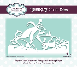 Creative Expressions - Die - Paper Cuts Penguins Sledding Edger