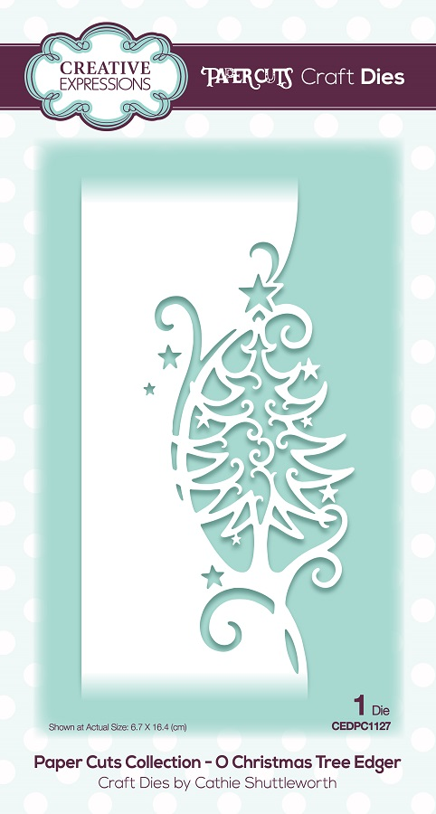 Creative Expressions Die Paper Cuts O Christmas Tree Edger