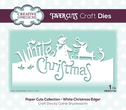 Creative Expressions - Die - Paper Cuts White Christmas Edger