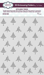 Creative Expressions - 3D Embossing Folder - Stylised Trees (5.75